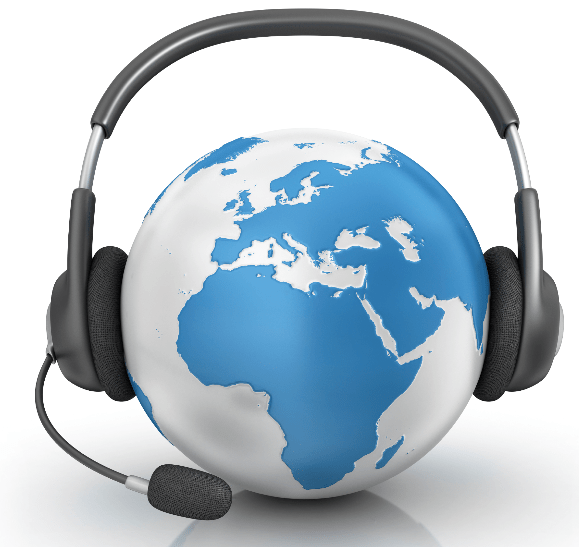 Customer interaction takes place on a number of channels and in multiple languages.